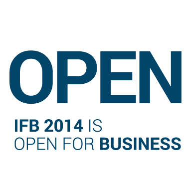 IFB 2014 is open for business